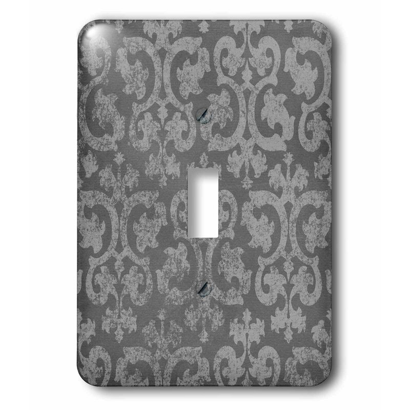 3drose Grunge Dark Damask Faded Antique Swirls Wallpaper Fancy Swirling 1 Gang Toggle Light Switch Wall Plate Wayfair