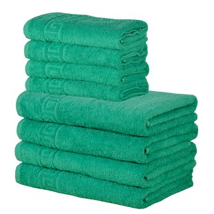 Yokum 8 Piece 100% Cotton Towel Set