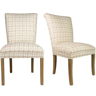 Roll Back Spring Upholstered Side Chair (Set of 2)