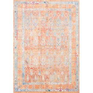 Shopping for Gomez Orange/Blue Area Rug by Bungalow Rose