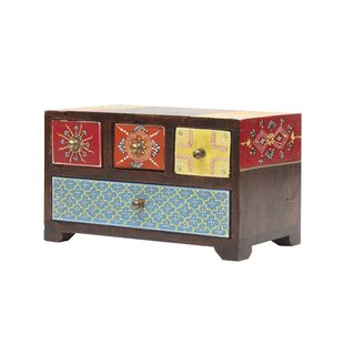 9.5 x 5.5 Painted Jewelry box ByWorld Menagerie