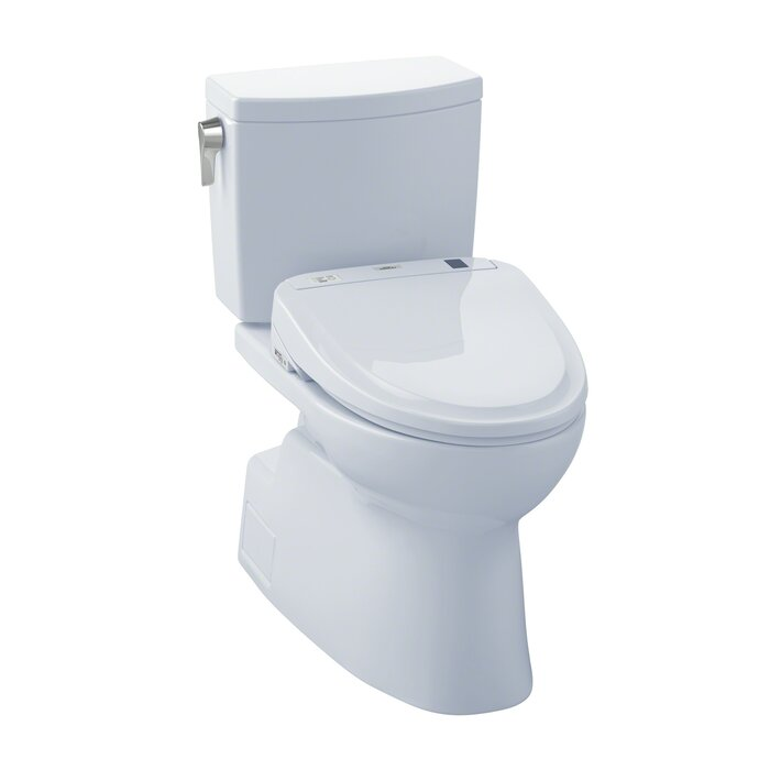 Cool Vespin Ii 1 0 Gpf Elongated Two Piece Toilet With S300E Electronic Bidet Seat Ibusinesslaw Wood Chair Design Ideas Ibusinesslaworg