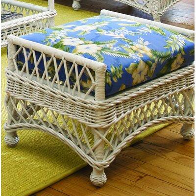 "Bay Isle Home Rosado 29"" Rectangle Floral Standard Ottoman  Upholstery Color: Siesta Pompeii, Leg Color: Brownwash"