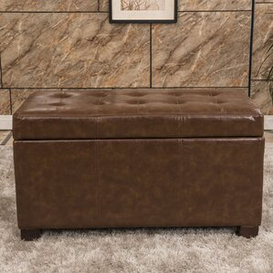 Elegant Waxed Texture Tufted Storage O..