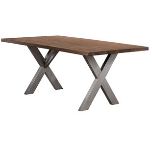 Natick Base Solid Wood Dining Table by Union Rustic Top Reviews