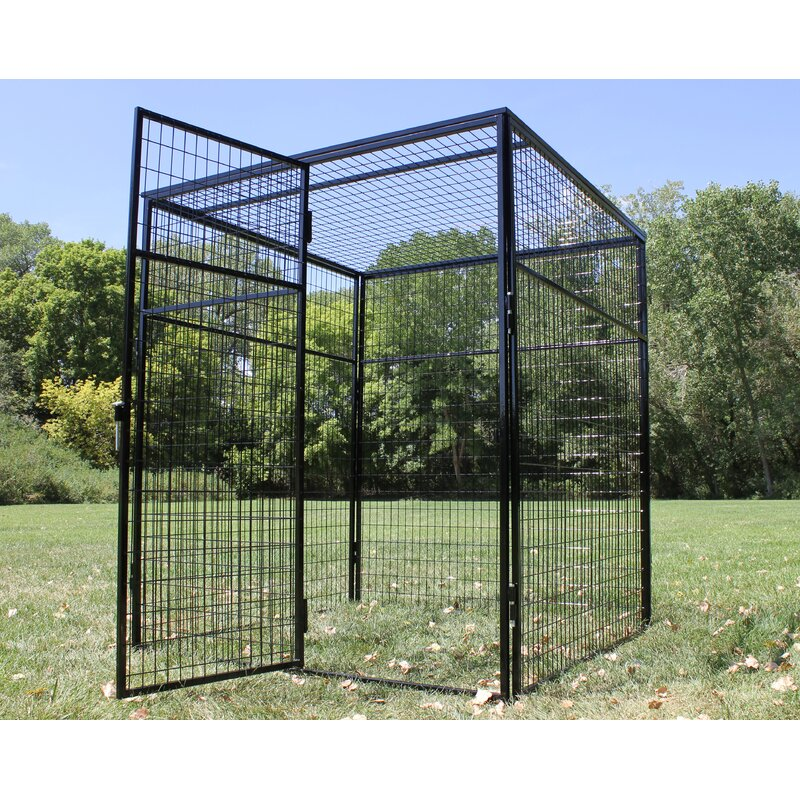 K9 Kennel Steel Welded Wire Top Yard Kennel Wayfair