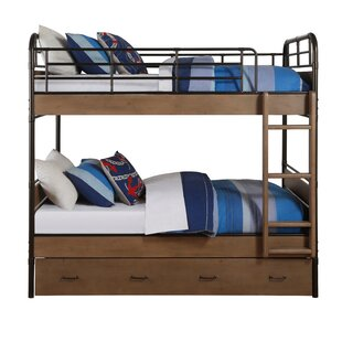 Rech Twin Over Twin Bunk Bed by Harriet Bee