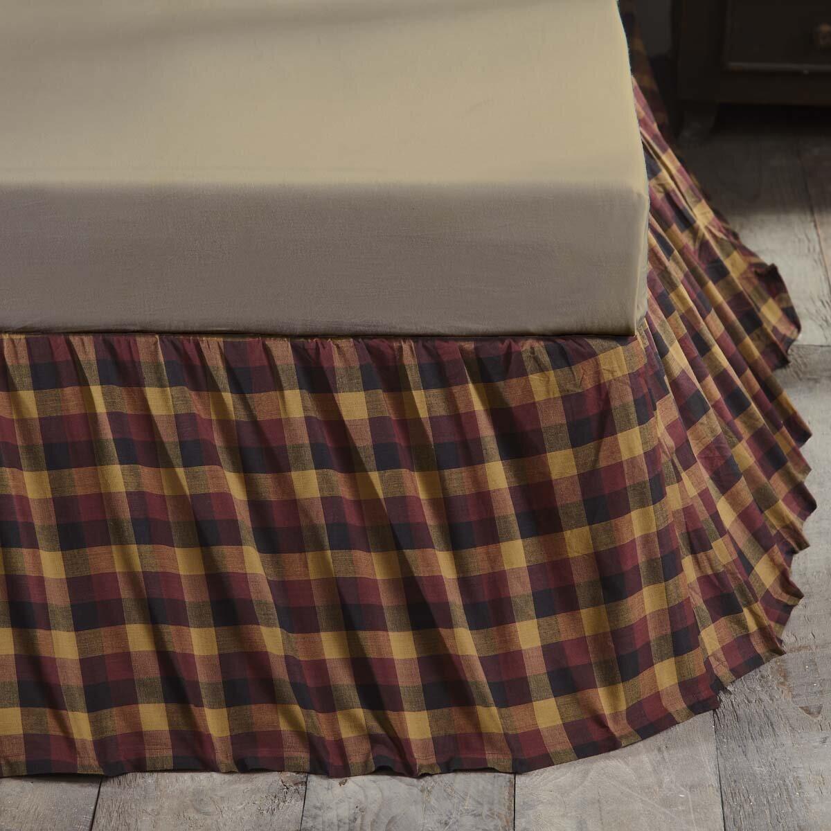 Loon Peak Drancy Check 16 Bed Skirt Reviews Wayfair