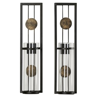 Contemporary Wall Sconce Candle Holder Set Of 2