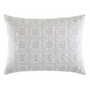 Tuille Floral Origami Stitching Cotton Throw Pillow