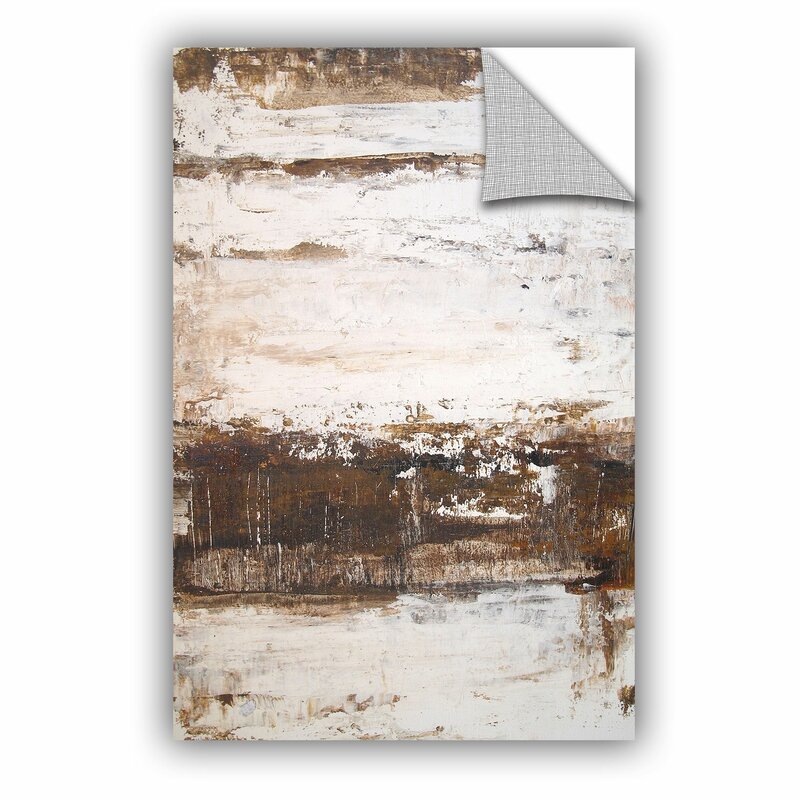 Williston Forge Mcdowell Worn Abstract V Removable Wall Decal Wayfair