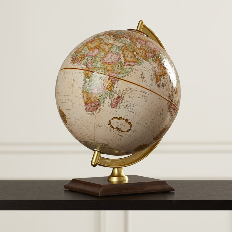 """Darby Home Co 12/"""" Antique French or English World Globe"""