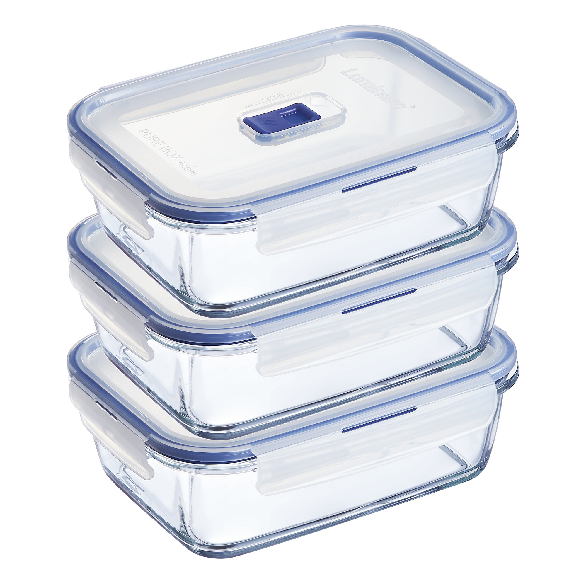 Luminarc Pure Box Active 3 Container Food Storage Set Reviews Wayfair