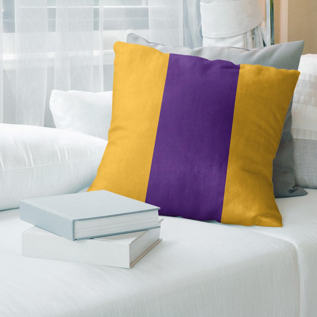 Yellow And Gold Artverse Throw Pillows You Ll Love In 2021 Wayfair