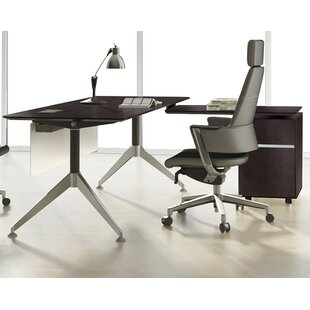 Inexpensive Manhattan Collection 2 Piece L-Shaped Desk Office Suite by Haaken Furniture