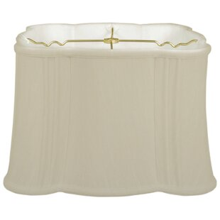 Online Reviews Flare Bottom Scallop 13 Silk Novelty Lamp Shade By Alcott Hill