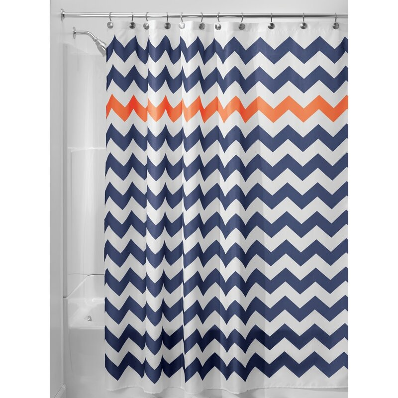 Interdesign Chevron Single Shower Curtain Reviews Wayfair