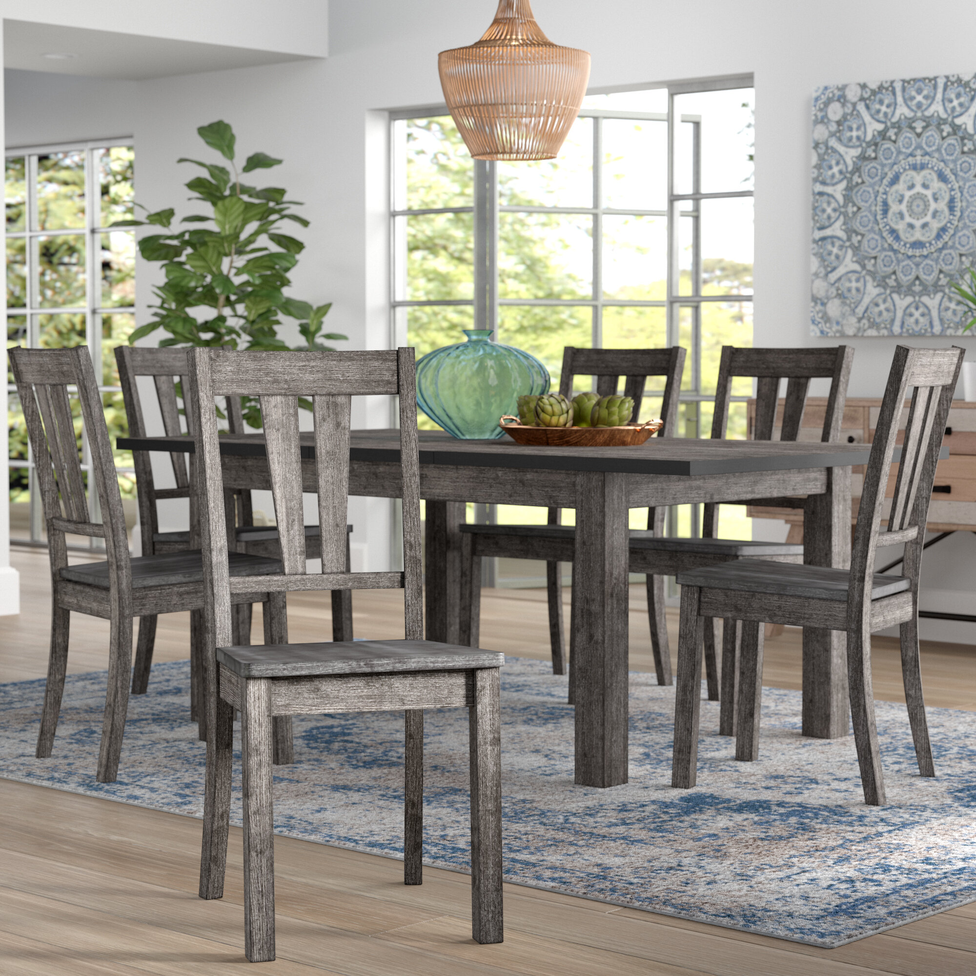 Mistana™ Katarina Extendable Rubberwood Solid Wood Dining Set ...