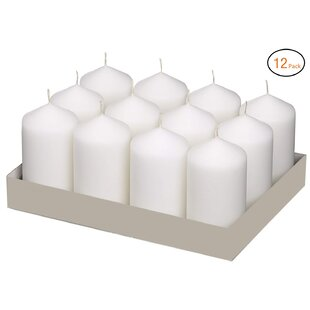 Weddings Home Decoration Unscented Pillar Candle (Set of 12)
