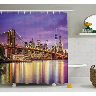 Best Deals Brunelle Broadway Scenery NYC Shower Curtain By Ebern Designs