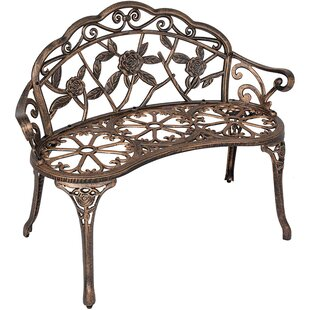 Shatley Rose Metal Garden Bench