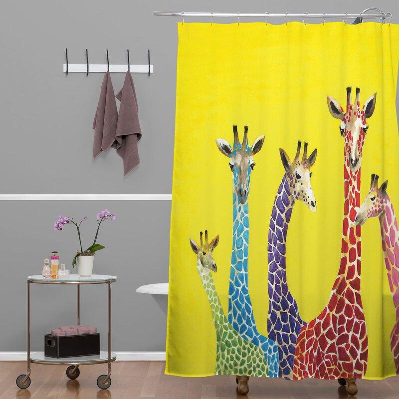 Beautiful Clara Nilles Jellybean Giraffes Shower Curtain