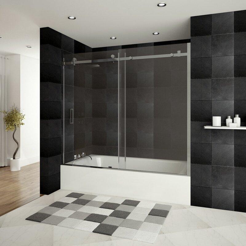 LessCare Ultra-B 60\'\' x 62\'\' Single Sliding Bath Tub Door & Reviews ...