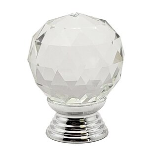 Round Glass Kitchen Cupboard Cabinet Door Drawer Crystal Knob (Set of 2) by Beauty Acrylic