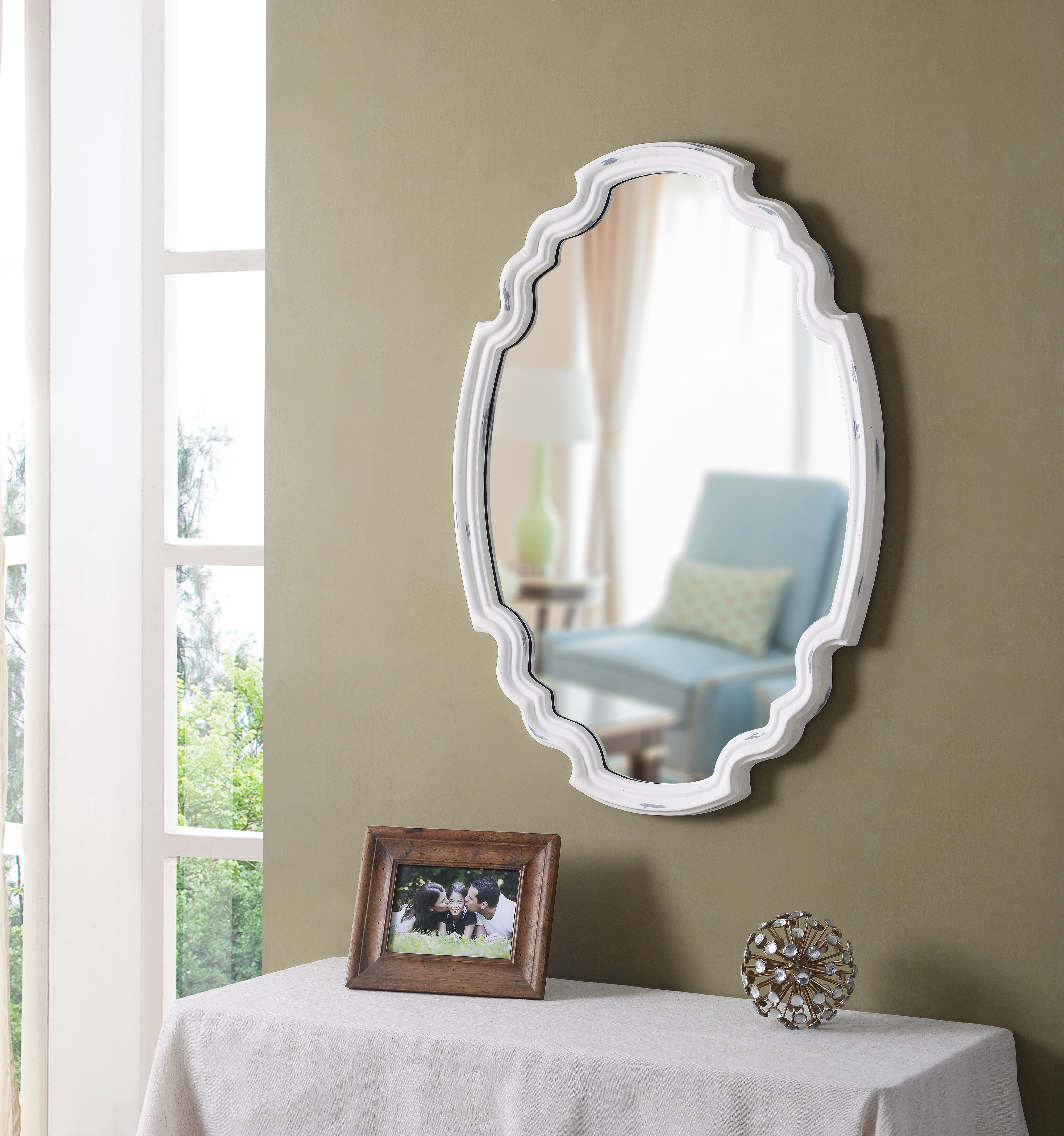 House Of Hampton Halette Glam Accent Wall Mirror Reviews Wayfair