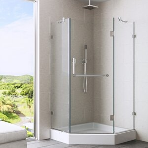 Piedmont 38 x 38-in. Frameless Neo-Angle Shower Enclosure with .375-in.