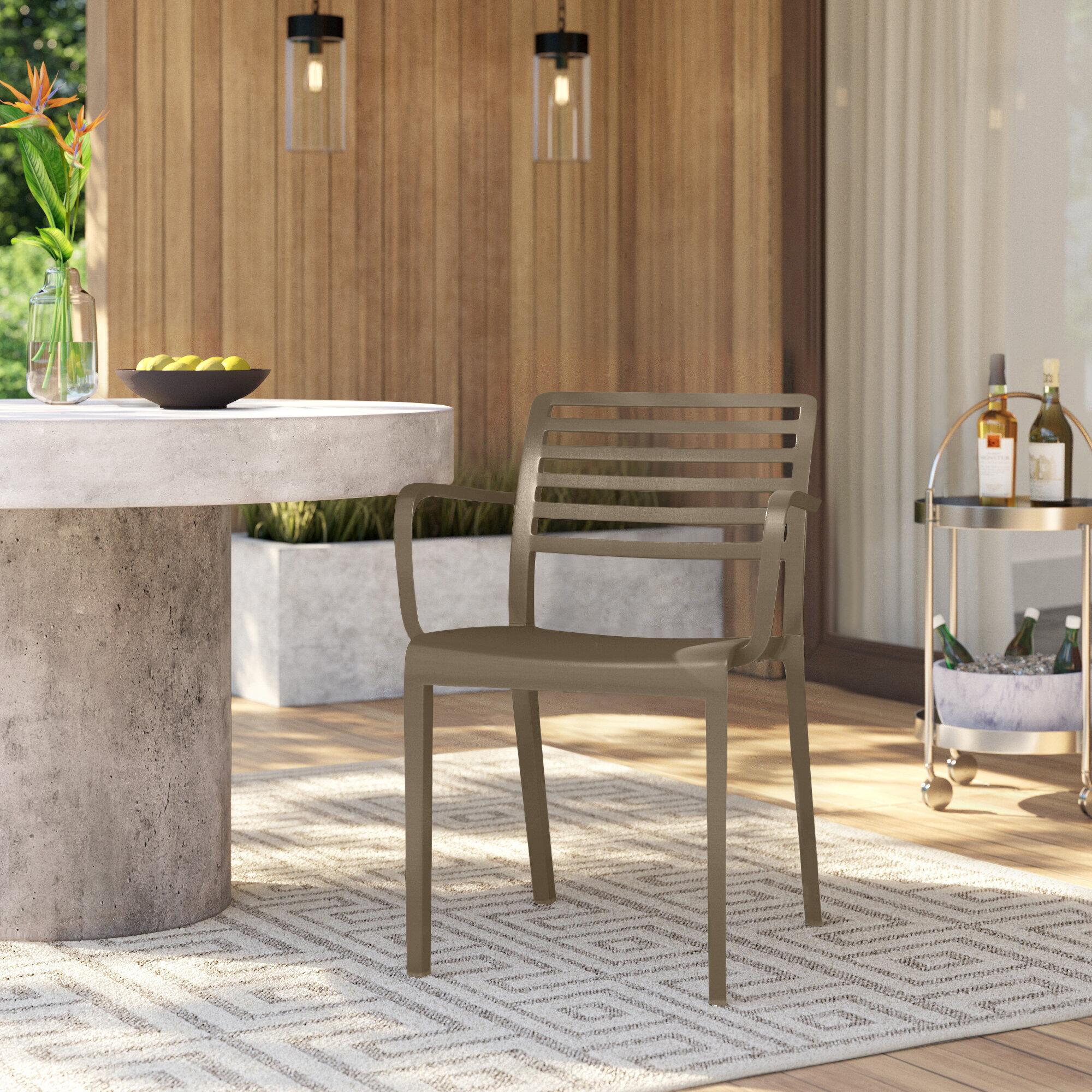 Mercury Row Carpentier Stacking Patio Dining Chair Reviews Wayfair