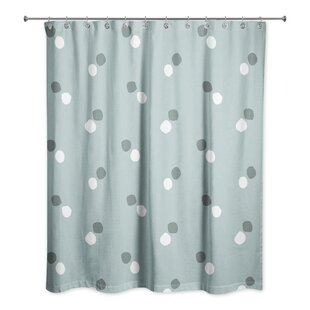 Rainier Dots Single Shower Curtain
