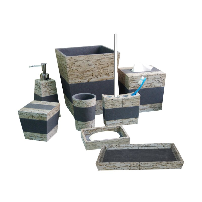 Basics Rustic Bathroom Accessory Collection Toilet Brush Holder Standard