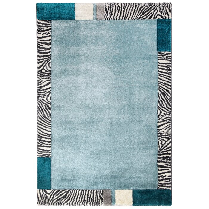 Tyrese Blue White Rug