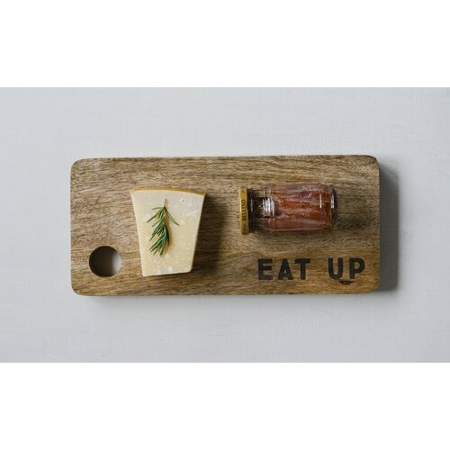 Creative Co-op Brown Mango Wood Trivet with Grooved Surface Decorative Accents