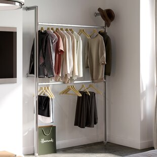 Clothes rails wardrobe systems wayfair relax 128cm wide clothes storage system sisterspd