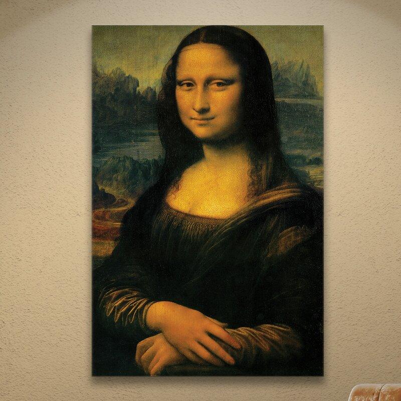 MONALISA PAINTING BY ITALIAN LEONARDO DA VINCI FINE ART REPRO ON PAPER OR CANVAS