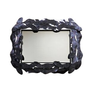 Orren Ellis Deantrei Metal Accent Mirror