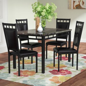 Brundrett 5 Piece Dining Set by Andover Mills