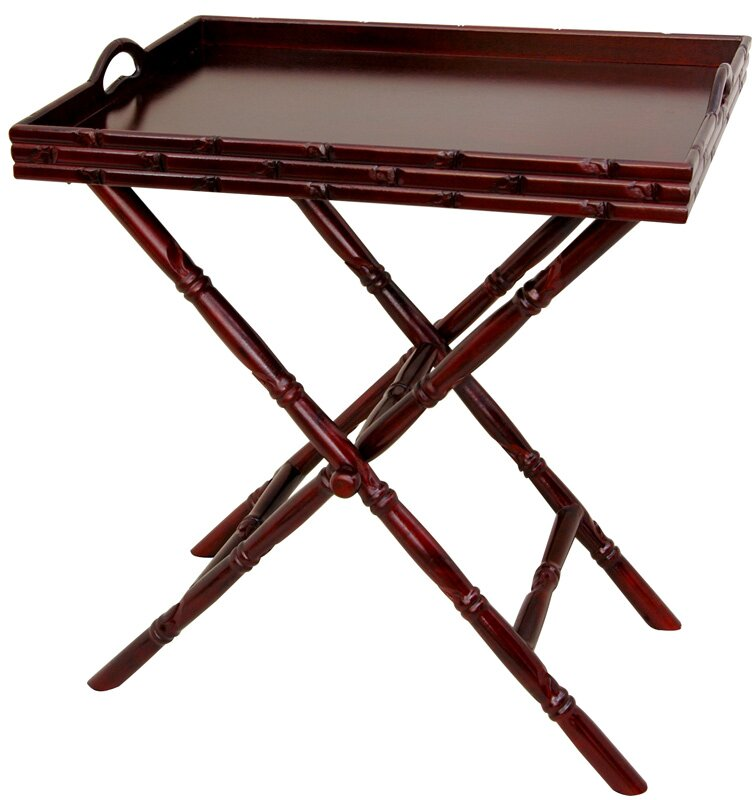 Exceptionnel Tea Tray And Trestle Stand Set
