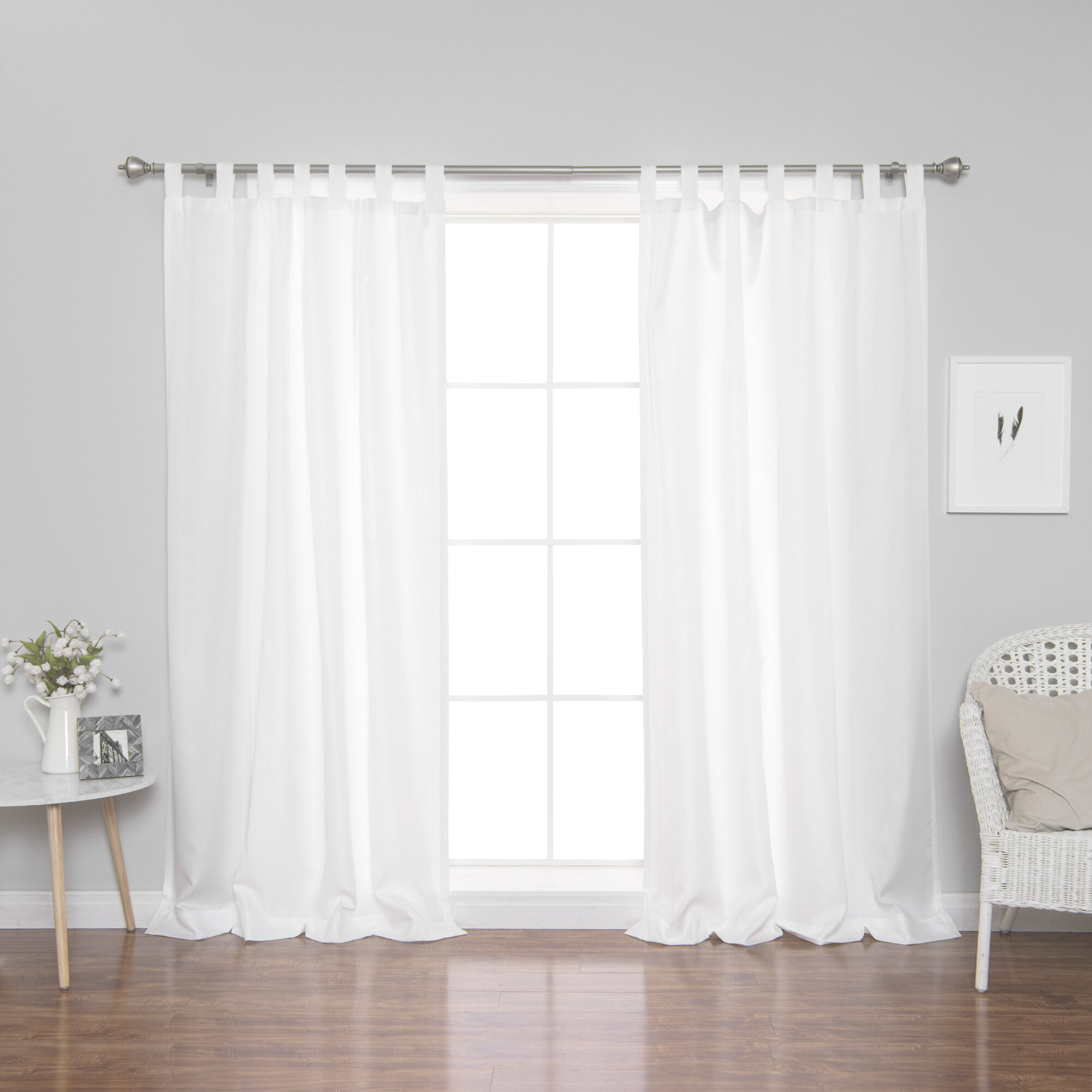 Rosecliff Heights Eaglin Solid Semi Sheer Tab Top Curtain Reviews Wayfair