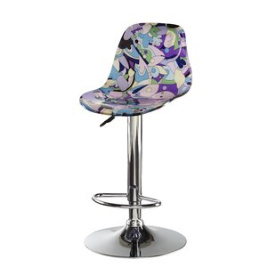 Cuccia Adjustable Height Swivel Bar Stool by Ivy Bronx