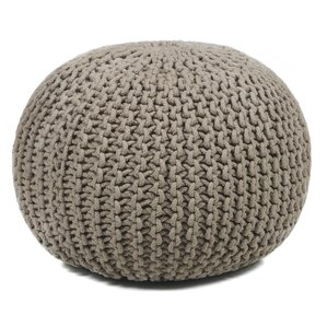 Meknes Textured Contemporary Cord Pouf Ottoman by Bungalow Rose