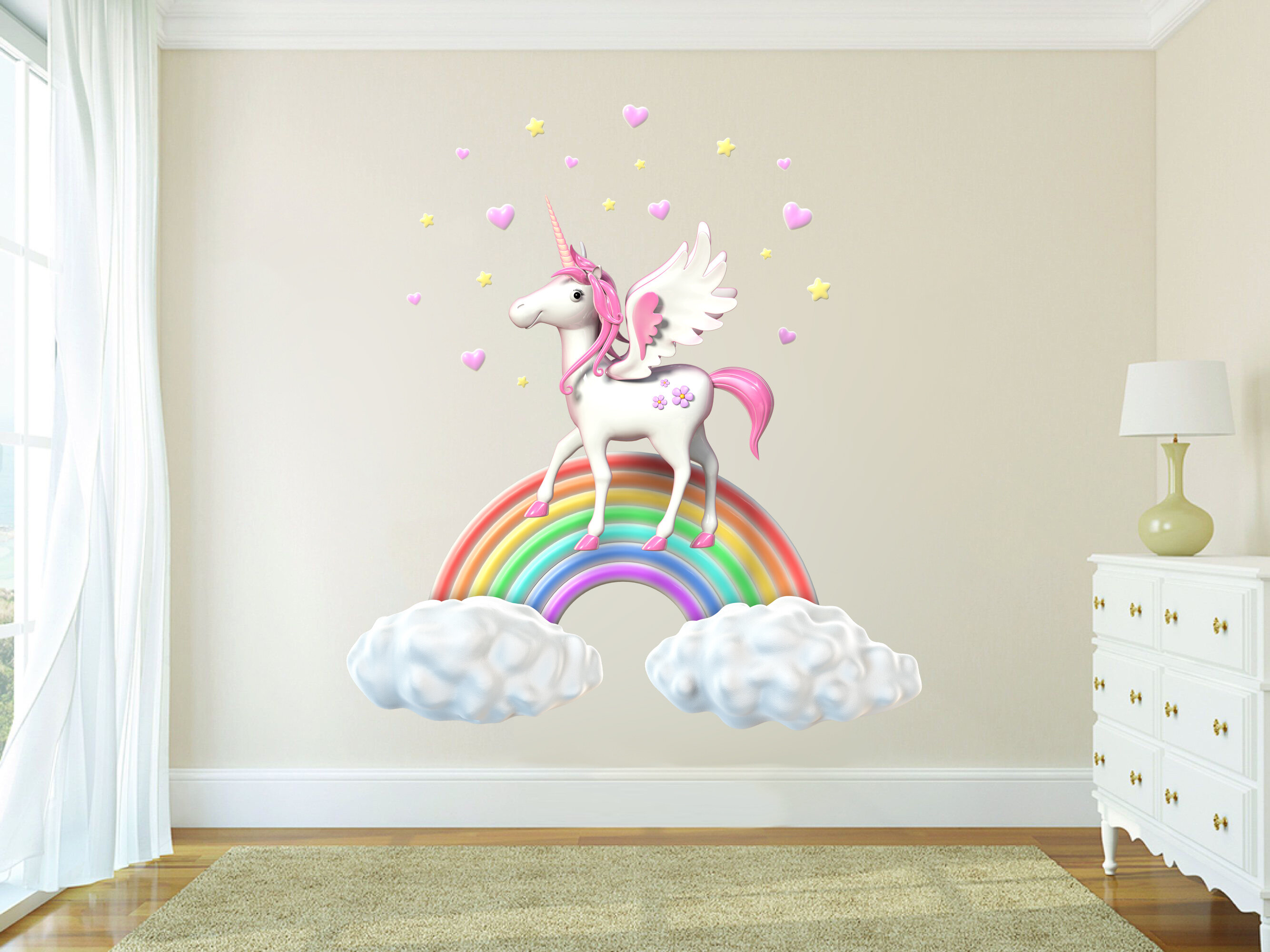 Unicorn Wall Sticker Fantasy Fairy Tale