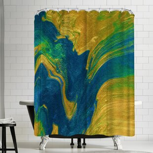Ashley Camille Abstraction Single Shower Curtain by East Urban Home Design
