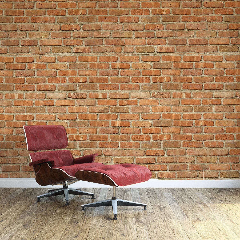 Williston Forge Mundell Brickwall 70 9 L X 47 3 W And Stick Wallpaper Tile Wayfair