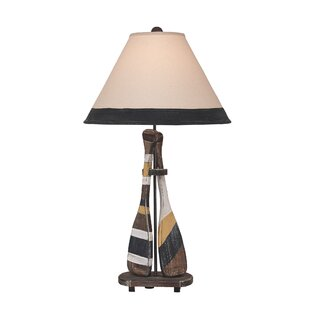 Ellington Circle 2-Paddle 31 Table Lamp