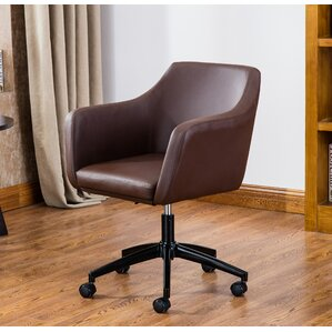 Violet Faux Leather Desk Chair