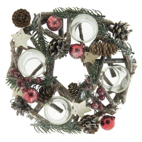 Adventskranz 28 cm (Set of 2) Die Saisontruhe   Weihnachten > Adventskranz und Weinachtsleuchter   Die Saisontruhe