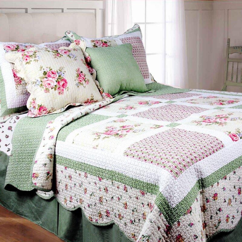 Spring Patch Cotton Quilt Set